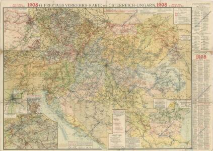 G. Freytag ́s Verkehrs - Karte von Österreich-Ungarn