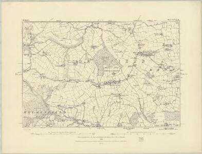 Derbyshire XVII.NW - OS Six-Inch Map
