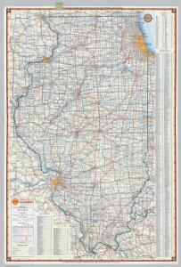 Shell Highway Map of Illinois.