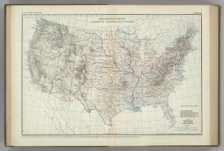 Location of Meteorological Stations.  Atlas of American Agriculture.