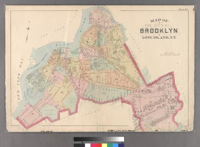 Plate 2: Map of the City of Brooklyn, Long Island, N.Y.