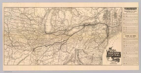 Map N.Y. Central & Hudson R. RR.