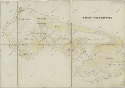 Hospodářská mapa revíru Novosedelské Hutě