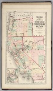 Railroad map of Oregon, California, and Nevada.