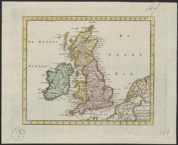Nieuwe kaart der Britsche Eilanden Engeland, Schotland en Irland.