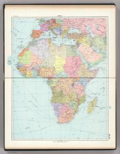 158-159.  Africa, Political.  The World Atlas.