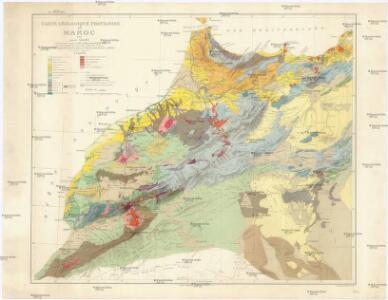 Carte géologique provisoire du Maroc