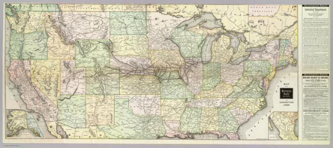 Map of the Burlington Route.