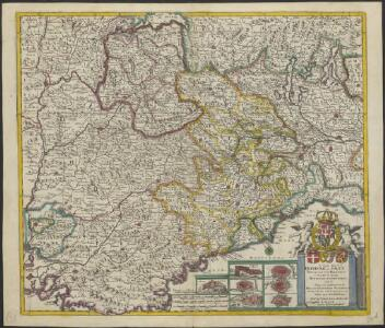 A new map of ye Dukedome of Savoy, Principality of Piedmont, county of Nice, Dukedome of Monferret, and ye adjacent countries of Milan, Dauphine Provence &c. with ye roads & passages over the Alpes into France &c.