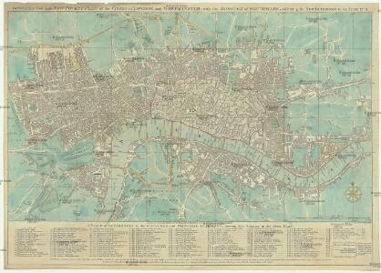 Bowles's reduced new pocket plan of the cities of London