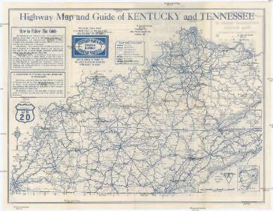 Highway Map and Guide of Kentucky and Tennessee
