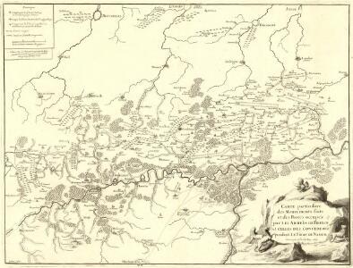 Carte particuliere des mouvements faits et des Postes occupéz par les Armées de France et Celles des Confederéz pendant le Siege de Namur