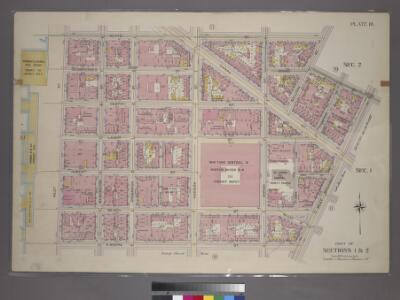 Plate 10, Part of Sections 1&2: [Bounded by Watts Street, Sullivan Street, Grand Street, West Broadway, N. Moore Street and West Street.]