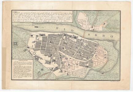 Plano que representa el estado á que quedó reducida la Ciudad de Zaragoza despues de haber sufrido un 2o sitio que duró desde el 21 de Diciembre de 1807 hasta el 20 de Febrero de 1808... / José Santiro fecit