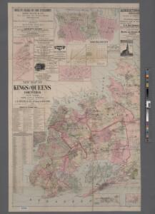 New map of Kings and Queens counties : from actual Surveys.