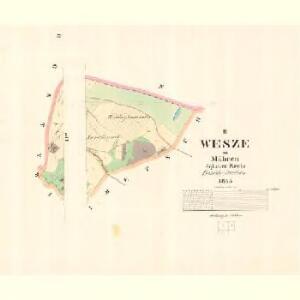 Wesze - m3353-1-002 - Kaiserpflichtexemplar der Landkarten des stabilen Katasters