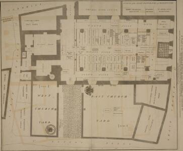 A PLAN OF THE CHURCH OF ST. PETER UPON CORNHILL, ITS CEMETERY &c.