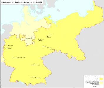Eisenbahnen im Deutschen Zollverein 31.12.1839