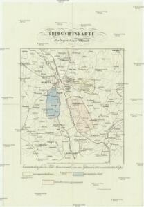 Übersichtskarte der Gegend um Olmütz