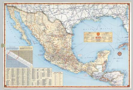 Shell Highway Map of Mexico.