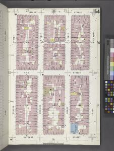 Manhattan, V. 1, Plate No. 54 [Map bounded by Market St., E. Broadway, Rutgers St., Monroe St.]