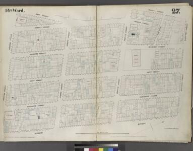 Plate 27: Map bounded by Houston Street, Bowery, Broome Street, Elm Street, Prince Street, Crosby Street.