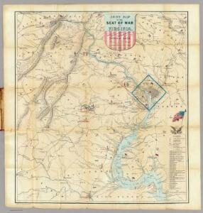 Army Map Of The Seat Of War In Virginia.