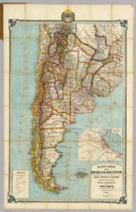 Nuevo mapa de la Republica Argentina, Chile, Uruguay y Paraguay.