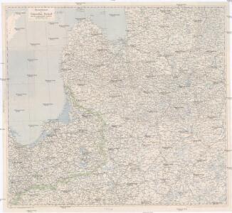 Übersichtskarte von Ostpreußen, Kurland und den angrenzenden Gebieten