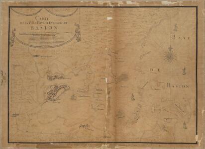 Carte de la ville, baye et environs de Baston