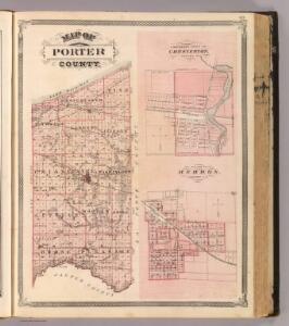 Map of Porter County (with) Chesterton, Hebron.