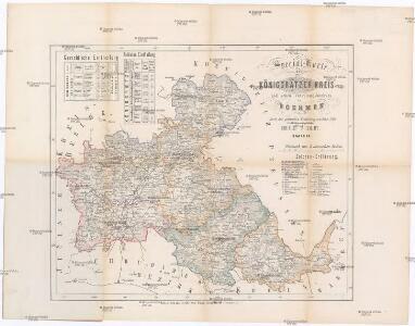 Special-Karte des Königgrätzer Kreis - resp. politischen Verwaltungsbezirkes in Boehmen