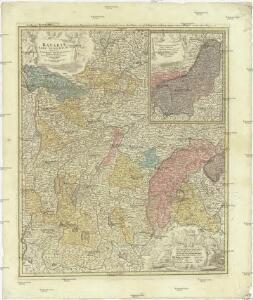 Bavariae pars superior tam in sua regimina principaliora quam in eorundem praefecturas pariculares accurate divisa