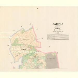 Zahorz (Zahořj) - c9056-1-001 - Kaiserpflichtexemplar der Landkarten des stabilen Katasters