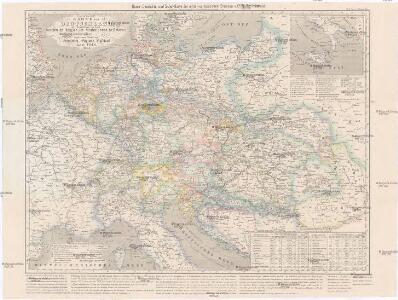 Geogr.-physik.-statist. Karte von Deutschland mit Einschluss von ganz Oesterreich, Belgien, den Niederlanden, der Schweiz, Italien und einem Theile von Frankreich, England, Russland und der Türkei