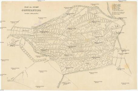 Plan der Stadt Constantine