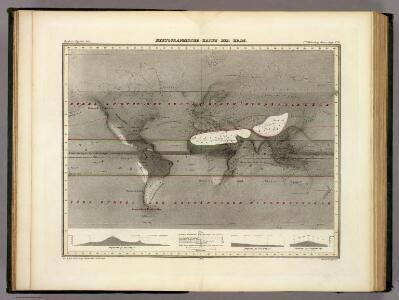 Hyetographische Karte der Erde.