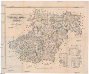 Special-Karte des Budweiser Kreis - resp. politischen Verwaltungs Bezirkes in Böhmen