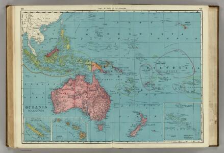 Oceania and Malaysia.