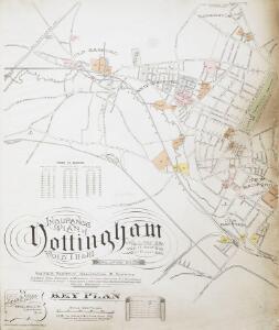 Insurance Plan of Nottingham Vol I, II & III: Key Plan