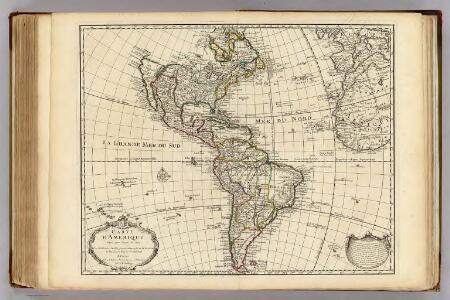Carte d'Amerique.