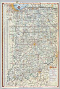 Shell Highway Map of Indiana.