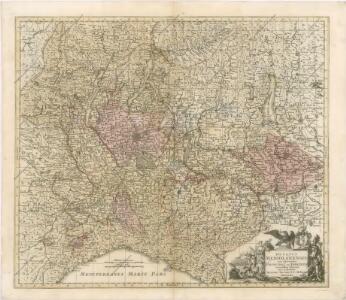 Ducatus Mediolanensis cum adjacentibus Principat.  Et Dominiis