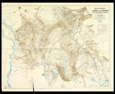 Karte der Flußgebiete des Drin und des Wardar