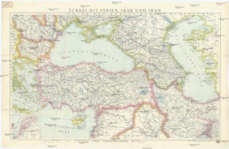 Türkei mit Syrien, Irak und Iran