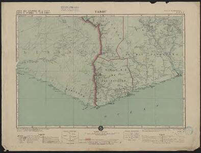 Carte des colonies de l'A.O.F. Tabou