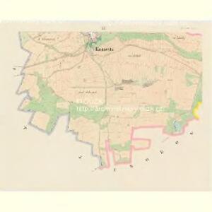 Kwasetitz - c3741-1-003 - Kaiserpflichtexemplar der Landkarten des stabilen Katasters