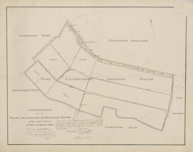 Drooggemaakte polder aan de Westzijde te Aarlanderveen, gemeente Aarlanderveen en Alphen a/d Rijn.