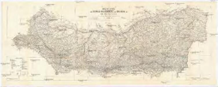 Original-Karte von Donau-Bulgarien, dem Balkan und süd.- ost. Serbien