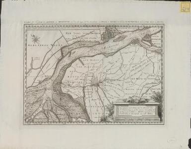 Kaart van een gedeelte der rivier de Merwede van des-zelfs begin (als de samenkomst van Waal en Maas) tot beneden Hardinksveld met de Oude Wiel en Killen